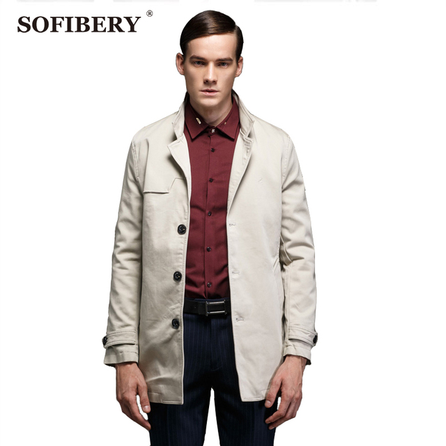 SOFIBERY мужская Пальто Пальто и Куртки Зима мужская мода Англия стиль Пальто Грудью Пальто DYB8981