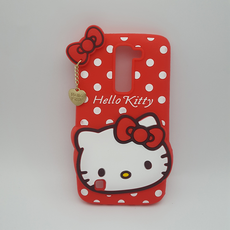 3D Lovely Cartoon Hello Kitty Polka Dot Soft Silicone Case Cover For LG Magna C90 H500 H520N H502 H500F Rubber Cell Phone Cases(China (Mainland))