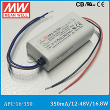 Buy Original Meanwell APC-16-350 LED Power Supply 16.8W 12~48V 350mA constant current mean well LED driver IP42 APC-16 for $4.45 in AliExpress store