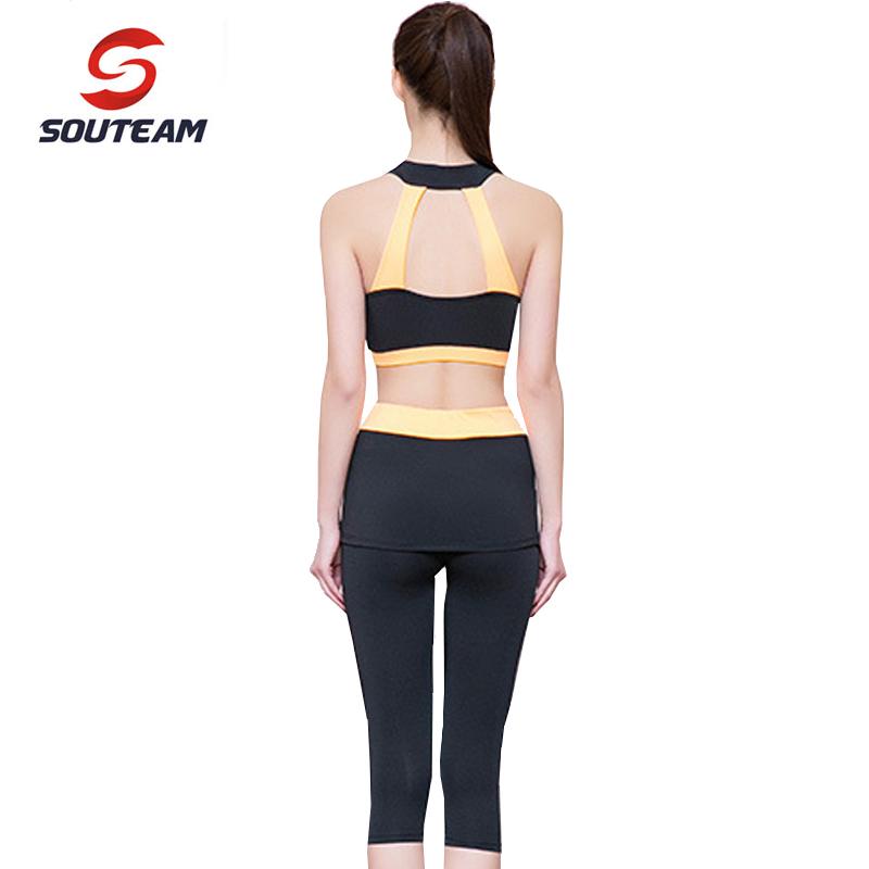 SOUTEAM Woman Brand Yoga Sets Sports Bra & Pants Women Yoga Set Fitness Tights & Underwear High Quality Yoga Tracksuit #ST160012(China (Mainland))