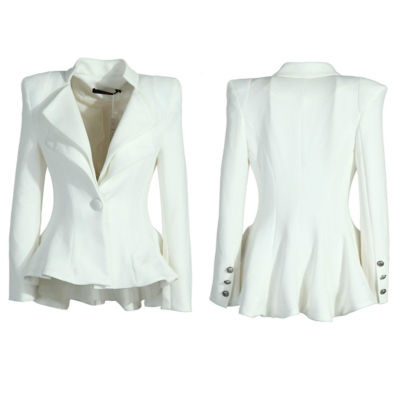 Ladies White Blazer Jacket | Fashion Ql