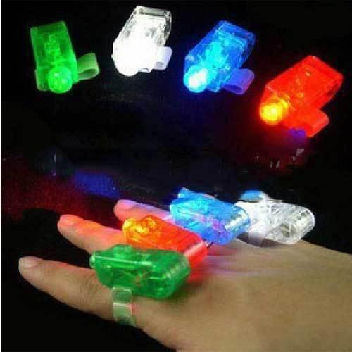 BestSeller Colorful LED Finger Light Lamp Laser light Suction Card Packing(China (Mainland))