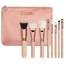 ZOEVA 8pcs Makeup Brushes Professional Rose Golden Luxury Set Brand Make Up Tools Kit Powder Blend Cosmetic brushes LUXURY SET(China (Mainland))
