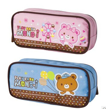 free shipping  office&school supplies pencil case  bag  cartoon series student canvas fabric pencil case stationery bags