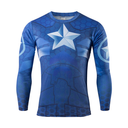 High quality t shirts 2016 new superhero batman jersey shirt quick dry fitness compressed dry T