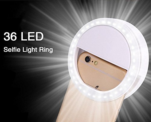 Selfie LED Light Up Flash Light Photography Luminous Ring Light 36pcs LED 3 Brightness Levels Clip on All Mobile Phone(China (Mainland))