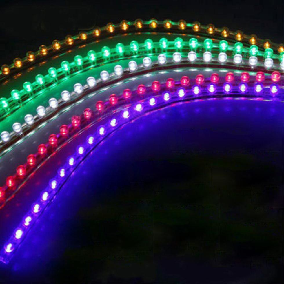 2pcs 24 LED Strip Under Light Neon Footwell Flexible Linear - Green Wonderful Gift(China (Mainland))
