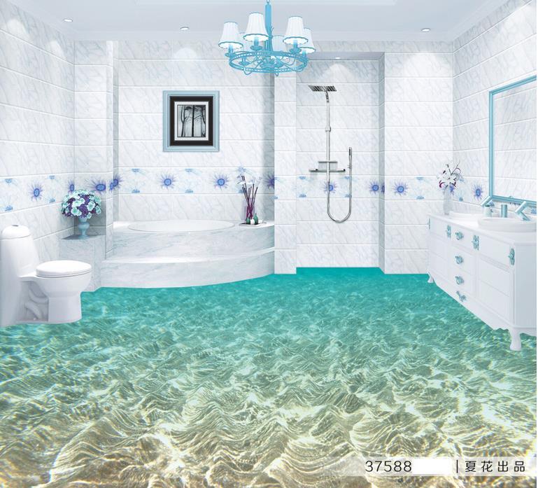 Baldosas Baño Vinilo:3d baldosas baño de vinilo papel pintado personalizado de la foto 3d