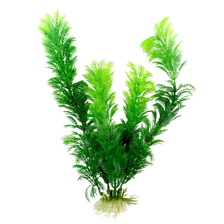 10pcs aquarium plants decoration 30cm artifical green for Green water in fish tank