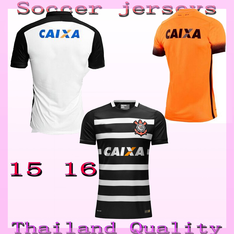 2016 CorinthiansES Soccer jersey 15 16 JADSON home away player version Football jersey MALCOM LUCIANO VAGNER LOVE GIL RALF(China (Mainland))