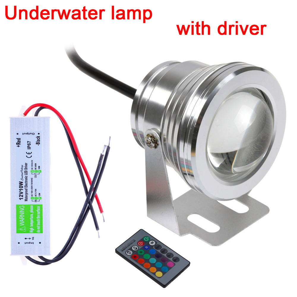 2015 Promotion Sale 10w 12v 16 Colors Rgb Led Underwater Light 1000lm Waterproof Ip68 Fountain Pool Lamp Lighting with Driver(China (Mainland))