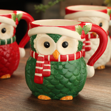 Christmas gifts Painted ceramic owl creative gift cups coffee mugs gift promotion products