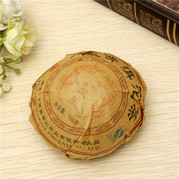 Wholesale High Quality 2002 Premium Yunnan Puer Tea Old Tea Tree Materials Pu Erh 100g Ripe