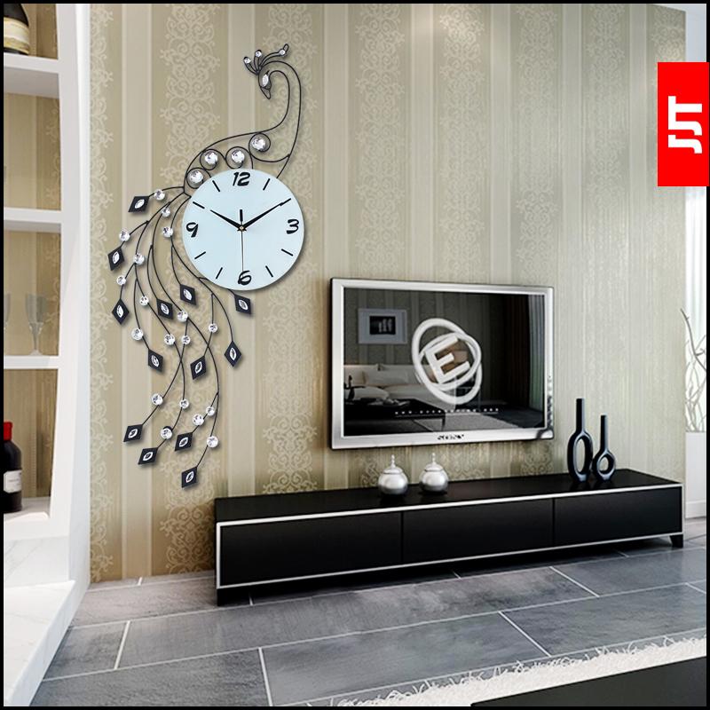 Acquista all 39 ingrosso online pavone orologio da parete da for Orologi grandi dimensioni