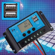 Buy 20A Solar Panel Battery Regulator Charge Controller Solar Charger USB / DC 12V/24V Output Charging Port LED APJ for $11.57 in AliExpress store