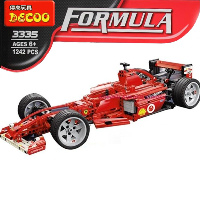 building block set compatible with lego 1/8 racing car F1 formula car 3D Construction Brick Educational Hobbies Toys for Kids<br><br>Aliexpress