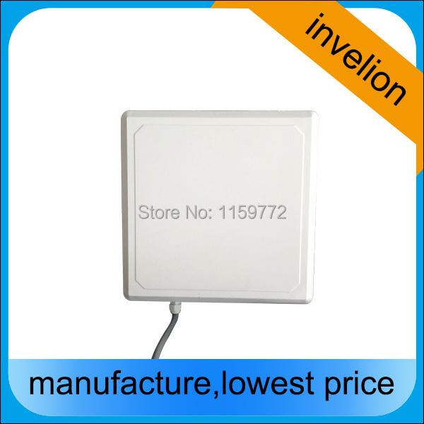 IP67 passive iso Wiegand26 rfid reader antenna / long range 1-10m Integrated antenna uhf rfid reader uart rs232 + tag sample(China (Mainland))