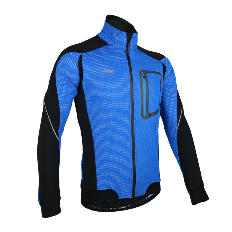 ARSUXEO Windproof Waterproof Long Sleeve Cycle Jersey Bike Bicycle Clothing Wind Coat Winter Warm Fleece Thermal Cycling Jacket(China (Mainland))