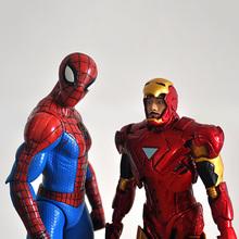 Buy 18cm Superhero Spiderman Spider man Iron Man X-Men captain america venom harley naruto PVC action figure Collection Model Toys for $24.74 in AliExpress store