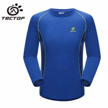TECTOP Newest Outdoor Men Women Long Sleeve Quick-drying Shirts Sports Camping Hiking Bamboo Charcoal Round Collar Jacket