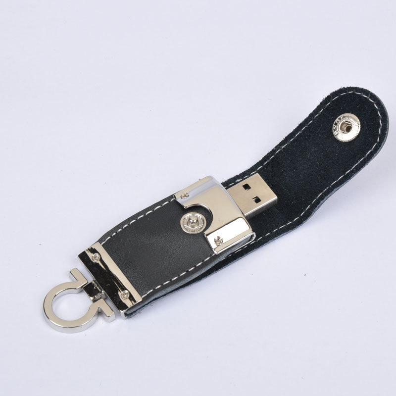 High Speed Leather Key Chain USB 2.0 Flash Drive 16GB Memory Stick Thumb Disk / Car / Pen Drives U Disk Free Shipping(China (Mainland))