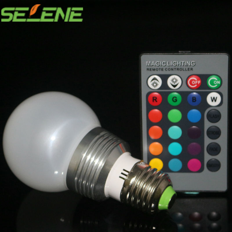 9W 2015 New arrival RGB E27 16 Colors LED Light Bulb Lamp Spotlight AC 85-265V 360 degree with IR Remote Control free shipping(China (Mainland))
