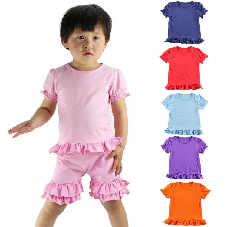 New Baby Kids Girls T-shirt Child Clothing Childrens Tops Summer Clothes Short Sleeve Tee Blouse Ruffle Shirts Tops(China (Mainland))