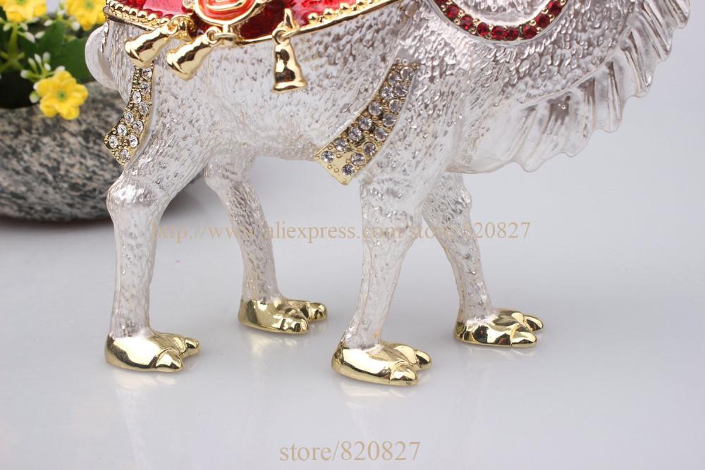 Big Camel Standing Bejeweled Collectible Trinket Jewelry Box Desert Camel Handmade Metal Jeweled Camel Jewelry Box Case