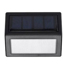 2016 New Arrival 2pcs 6 LED Solar Lights Manual Control Outdoor Wall Light New Modern Lamp(China (Mainland))