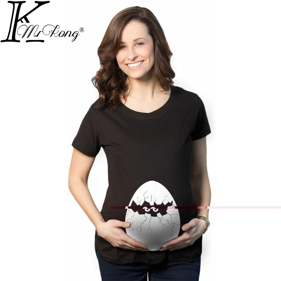 New maternity tops pregnancy funny maternity shirts with baby peeking out peek-a-boo maternity t-shirt baby peeking shirt(China (Mainland))