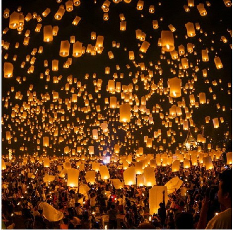 Free Shipping 10 Pieces/Lot SKY UFO White Balloon Kongming Flying Lanterns Wishing Lamp Christmas Lamp(China (Mainland))