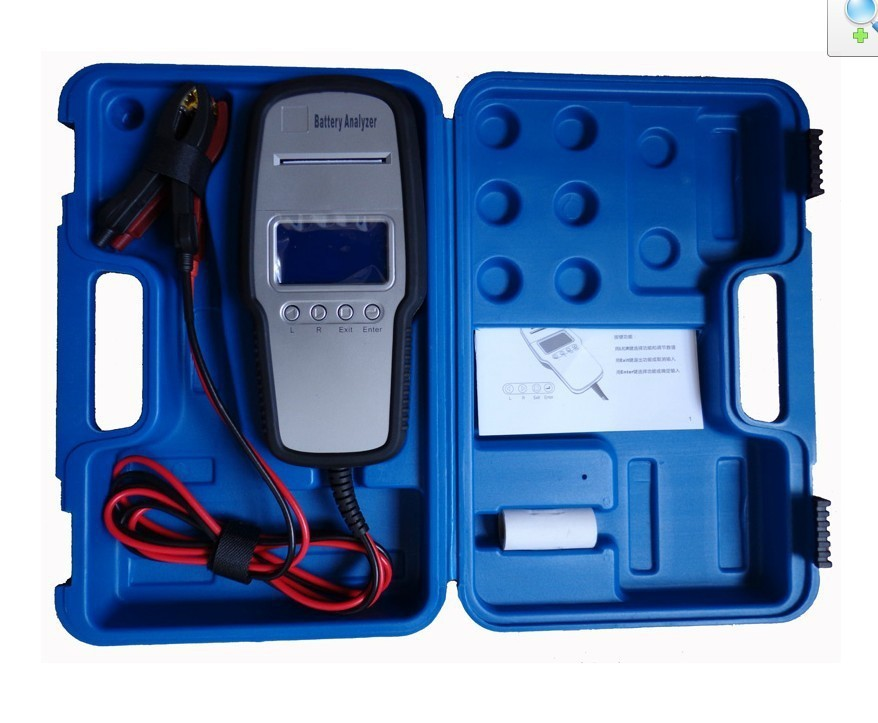Auto Battery Tester Car Battery Analyzer 12V Printer inside