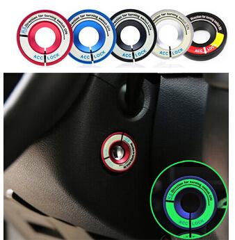 Luminous Glow Ignition Switch Key Ring Coil Sticker Case for Volkswagen Skoda Octavia Fabia YETI Passat Bora POLO GOLF 6 MK5 MK6