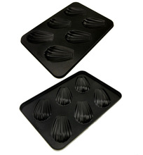 Free Shipping 3D Six cup banana Madeleine cake mold bakeware fondant cake decorating tools cake stand kitchen accessories