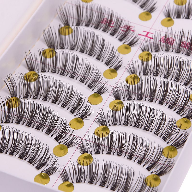 10 Pairs Soft Makeup Handmade Natural Fashion False Eyelashes Eye Lashes 32 # 50923(China (Mainland))