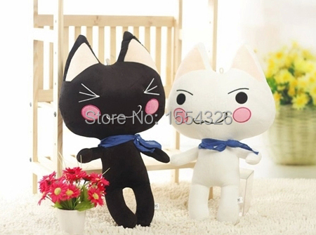 Much ROM cartoon cat toy doll toy doll children's day present for classmate birthday package mail(China (Mainland))