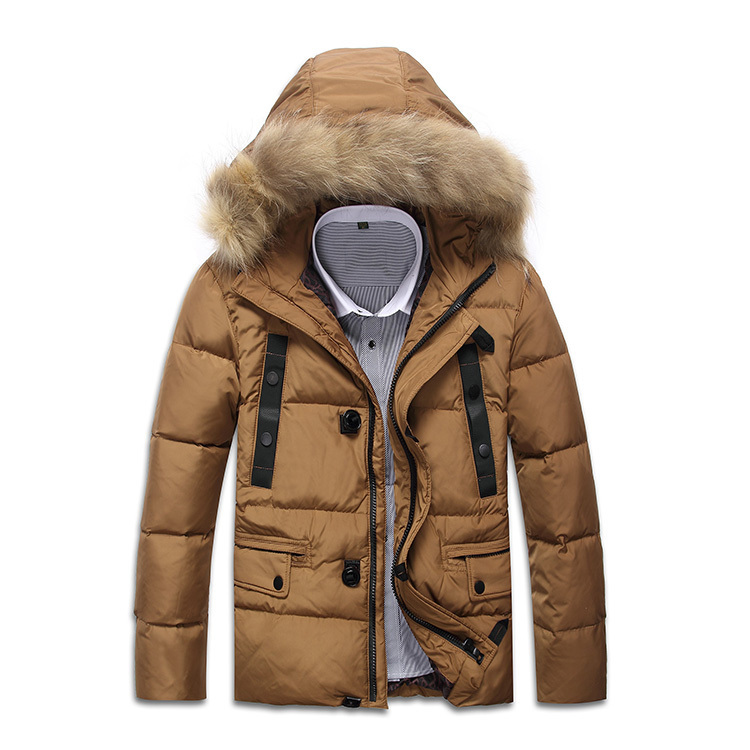 2015 Hot Sale Winter Brand Jacket Man Casual Down Jacket men Outdoor Coat Fur collar Pocket Thick Warm and comfortable BJ07Одежда и ак�е��уары<br><br><br>Aliexpress