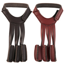 Archery Protect Glove 3 Fingers For Pull Bow arrow Leather Shooting Gloves free shipping