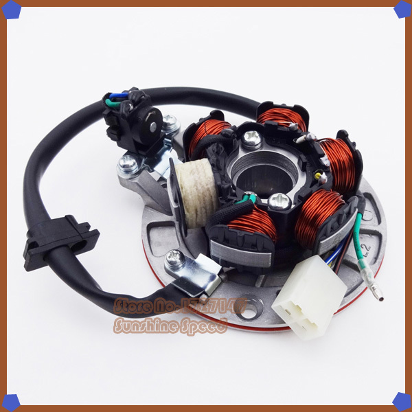 Yin Xiang Magneto Stator With Plug And Light For YX 140cc Pit Dirt Bikes PitsterPro Stomp Thumpstar SDG Apollo(China (Mainland))