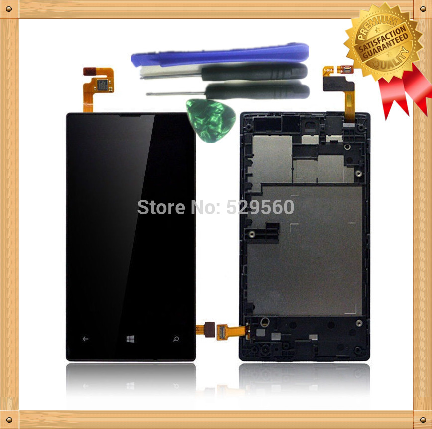 For Nokia Lumia 520  LCD Display+Touch Screen Digitizer Assembly With Frame +Tools