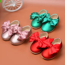 Spring/Autumn Baby Girl Shoes Cute Bowknot Princess First Walkers Dance Shoes Infant PU Leather Shoes For Party(China (Mainland))