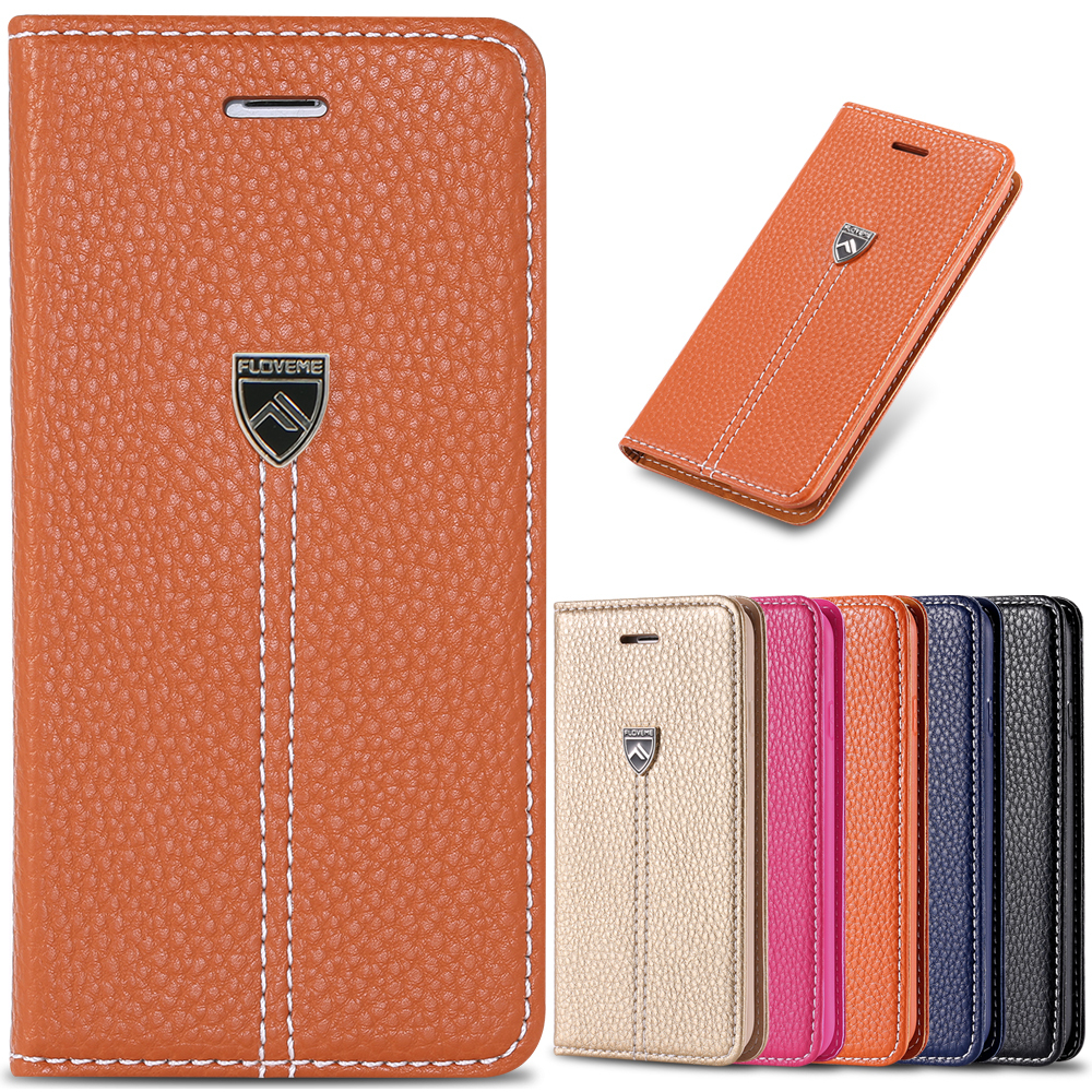 Noble Brand Lychee Retro Stand Wallet Card Slot Flip Case iphone 6 Plus 5.5 Leather Luxury Original Cover 6s - RCD Technology store