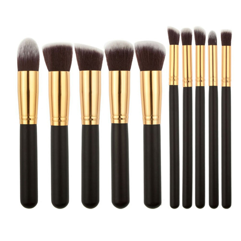 10 Pcs Superior Professional Soft Cosmetic Make Up Brush Set Woman's Toiletry Kit high quality Makeup Brushes(China (Mainland))