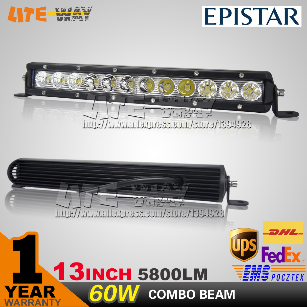 13INCH 60W LED WORK LIGHT BAR OFFROAD 4X4 COMBO BEAM FOR TRUCK ATV SAVE ON 30W/120W