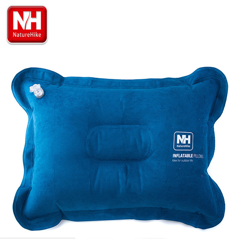 NatureHike Outdoor Traveling Comfortable Automatic Air Inflatable Cushion Pillow neck pillow Tourist Travel Kits 42*28*12cm(China (Mainland))