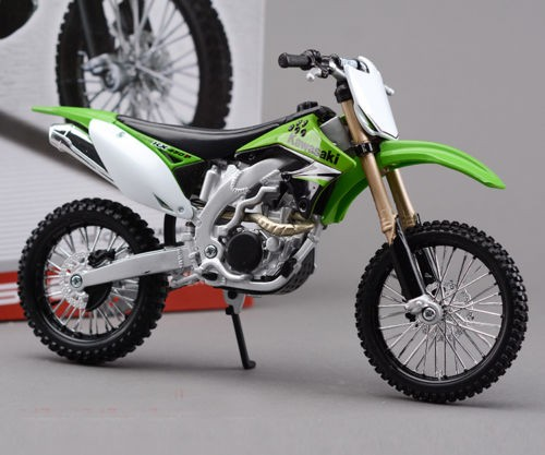 Limited Edition 1/12 Diecast Motorcycle Model Toys Kawasaki KX450F Diy Assembly Motorbike Toys For Children(China (Mainland))