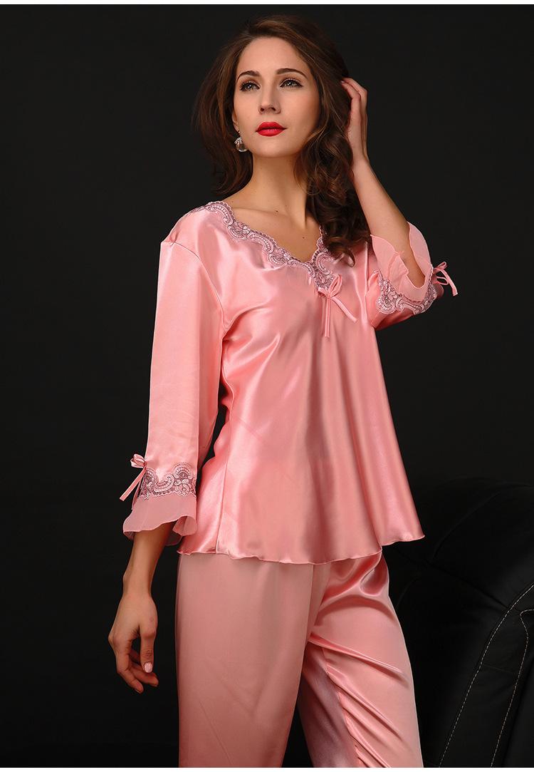 soie pyjamas dames promotion achetez des soie pyjamas dames promotionnels sur. Black Bedroom Furniture Sets. Home Design Ideas