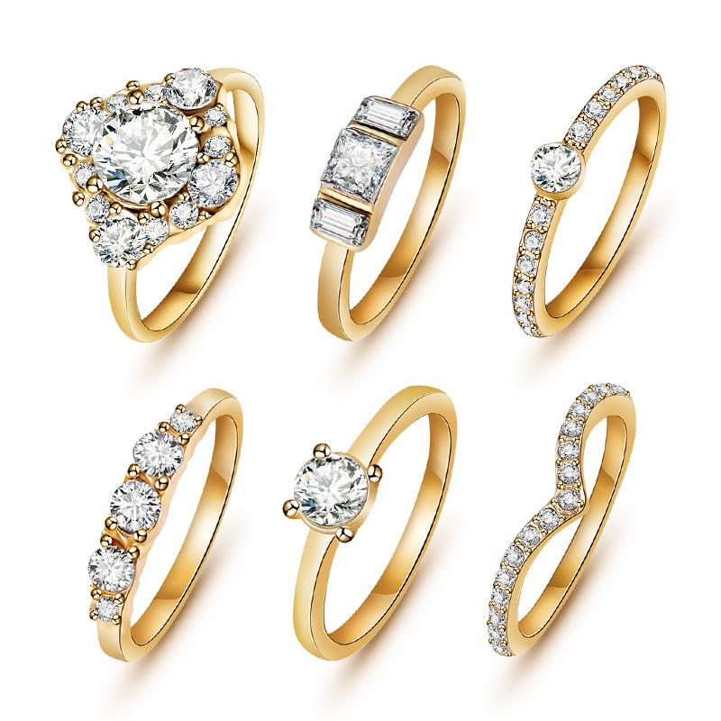 anillos de boda 2015 new Hot Sale Fashion brand The wedding jewelry crystal wedding gold/silver ring set for women Free Shipping(China (Mainland))