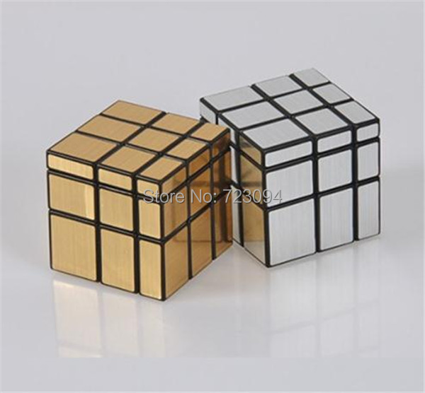 Min.order is $ 10 (Mix order) Free Shipping New Mirror Blocks Silver Shiny Professional Magic Cube Kid Brain Puzzle Toy JE288(China (Mainland))