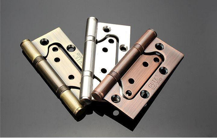 Wholesale Hardware hinge Stainless steel Door hinge Furniture hinges Furniture hardware Accessories 4inch 5pcs/lot Free shipping(China (Mainland))